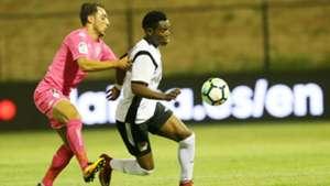 Sergio Agusa tackle Ovella Ochieng of KPL AllStars
