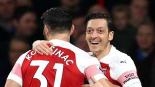 Sead Kolasinac, Mesut Ozil, Arsenal 2018-19