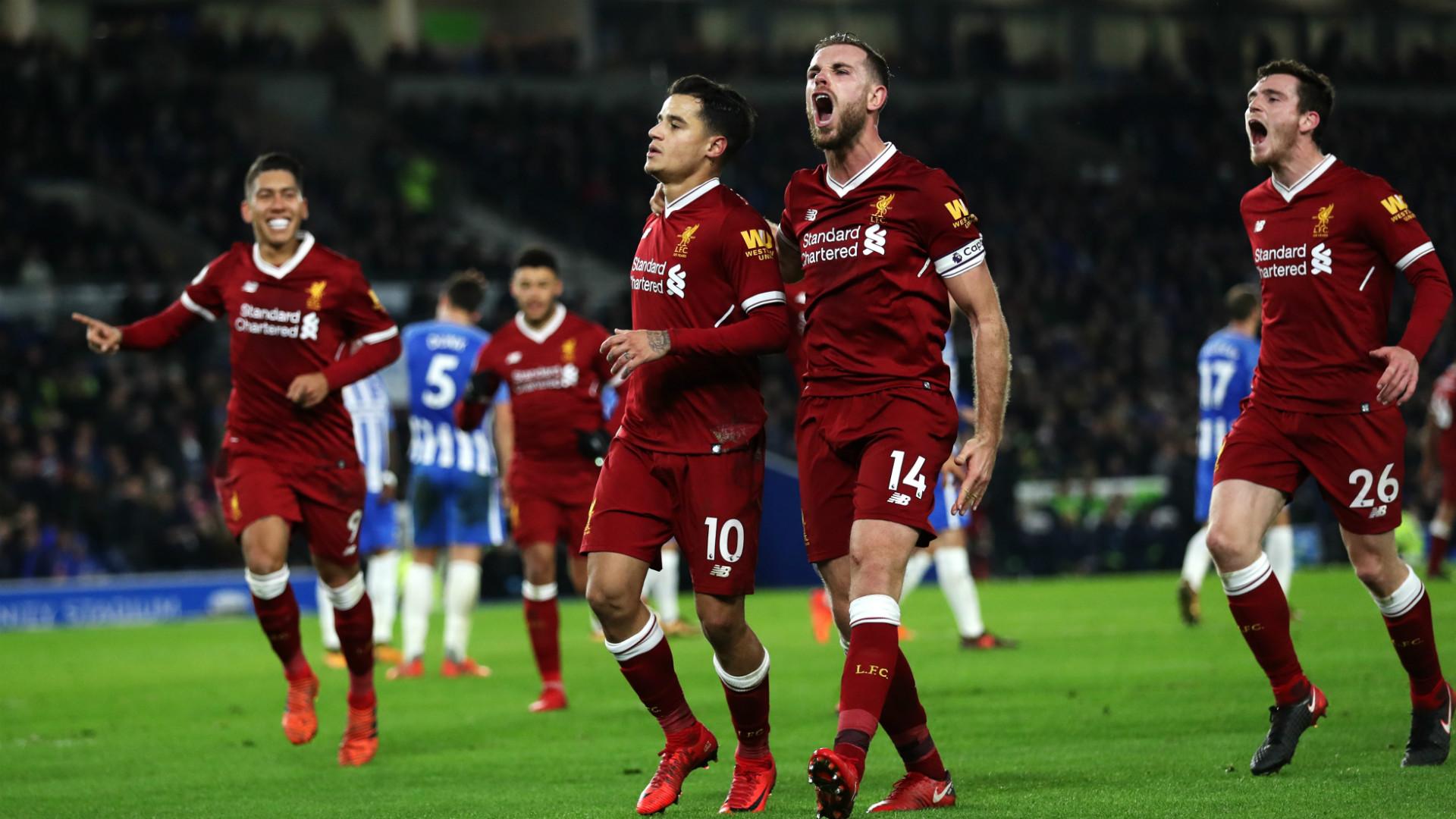 Coutinho Liverpool celebrate
