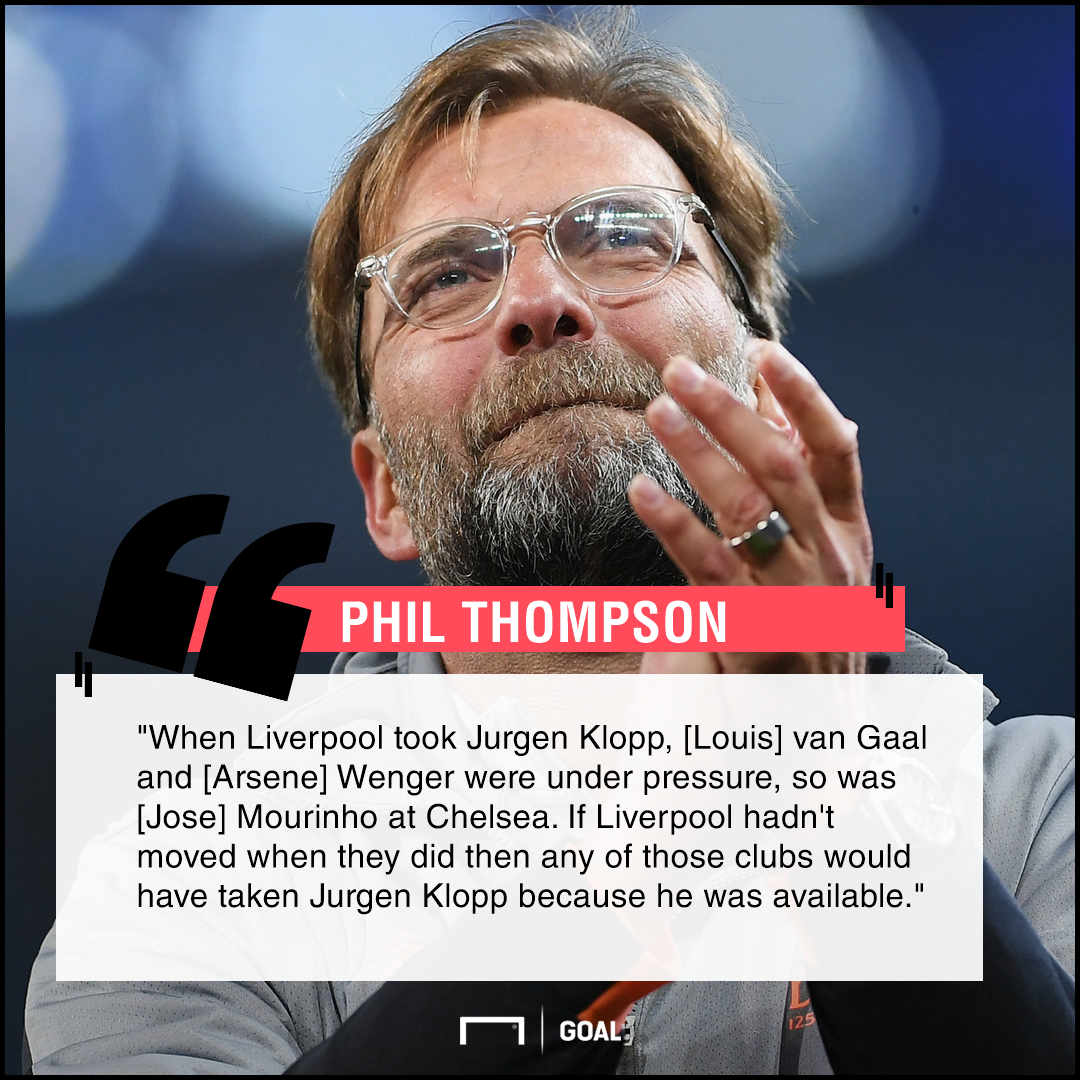 Jurgen Klopp Liverpool Phil Thompson wanted by Arsenal Chelsea Man Utd