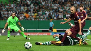 Andres Iniesta Sporting CP Barcelona UCL 27092017