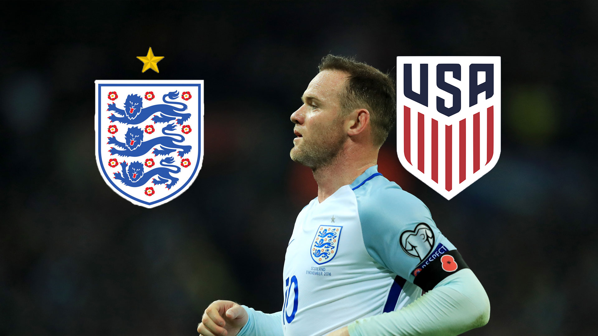 England USA TV LIVE STREAM DAZN WAYNE ROONEY