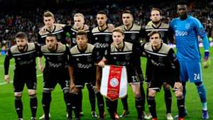 Ajax team photo vs Real Madrid Champions League 2018-19