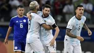 Lionel Messi Sergio Aguero Argentina Paraguay Copa America 19062019