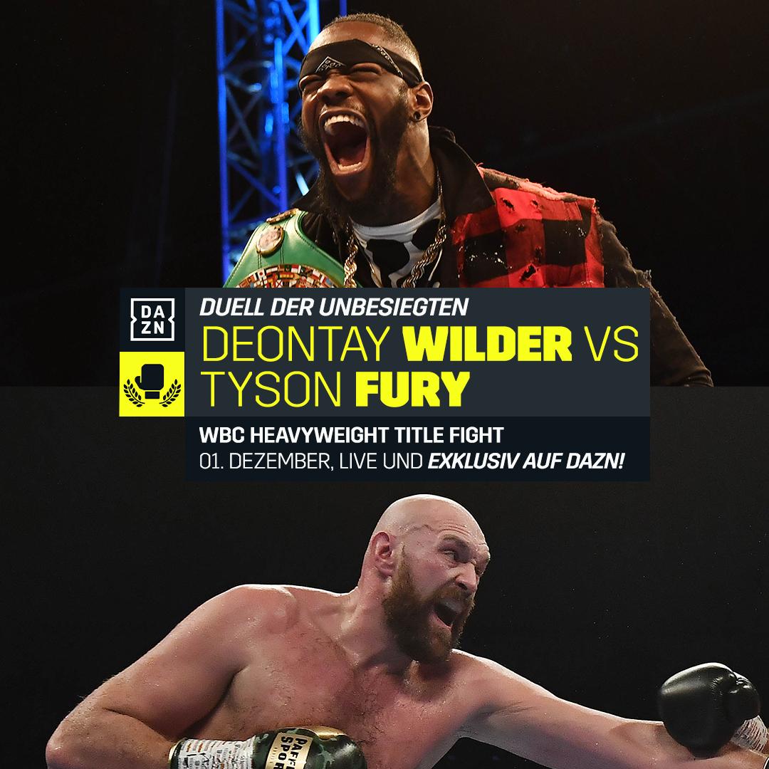 DAZN Deontay Wilder Tyson Fury