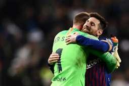 Marc-Andre ter Stegen & Lionel Messi