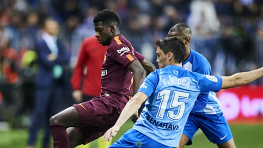 Ousmane Dembele Federico Ricca Barcelona Malaga La Liga