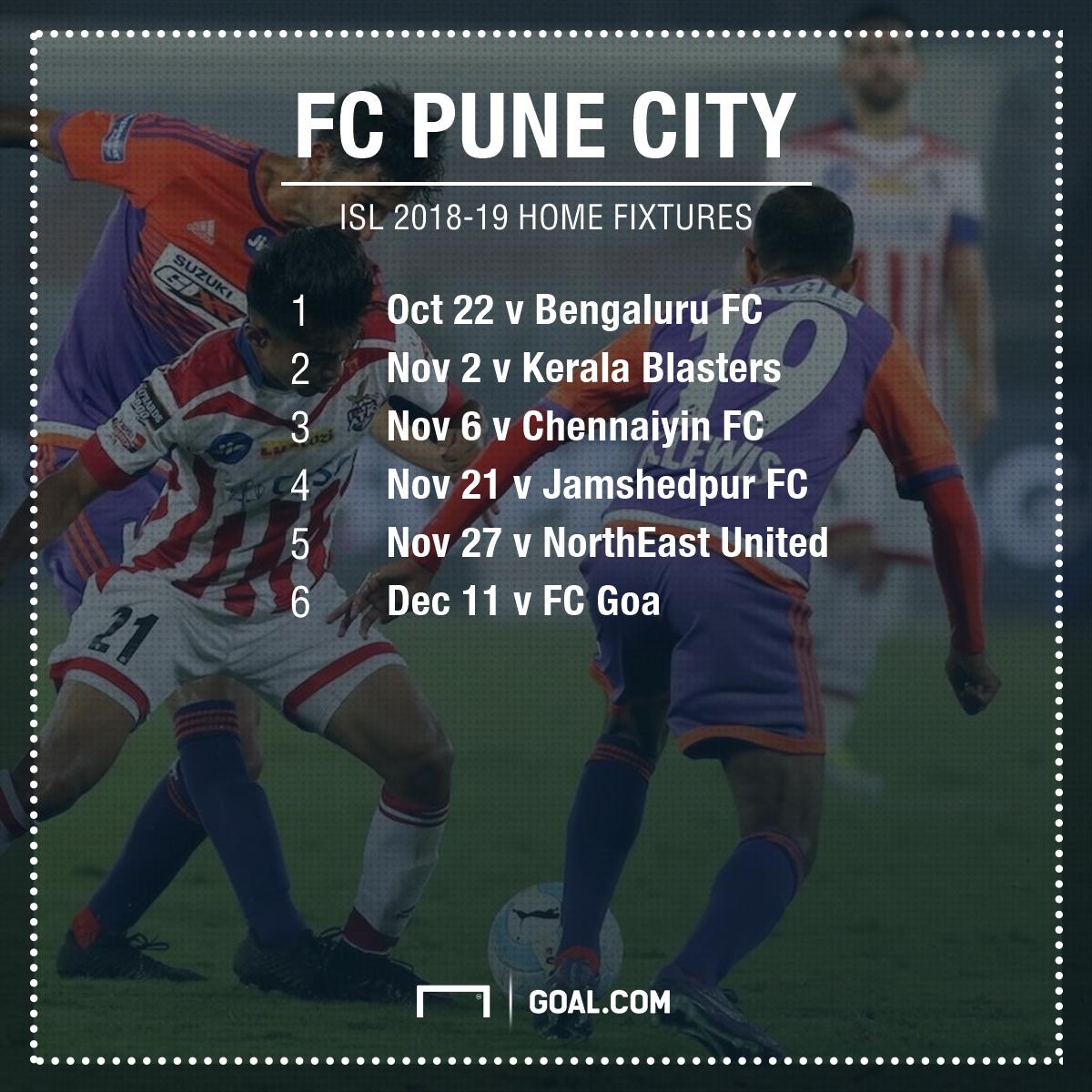 Pune City fixtures