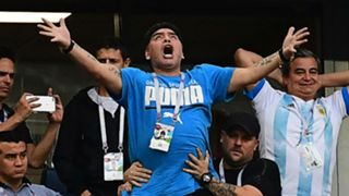 Diego Maradona Argentina Nigeria World Cup 260618