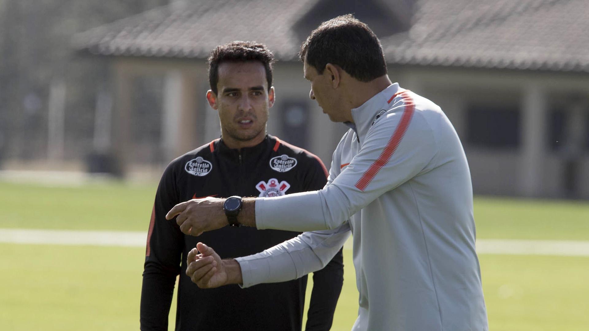 Jadson Fabio Carille Corinthians treino 09012018