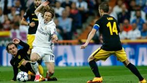 Luka Modric Antoine Griezmann Gabi Atletico Madrid Real Madrid
