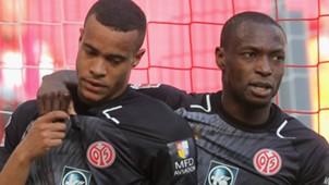Robin Quaison, Anthony Ujah, FC Koeln v  FSV Mainz 05 - Bundesliga