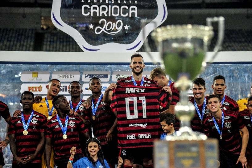 Flamengo comemora título da Taça Rio 2019 após superar o Vasco