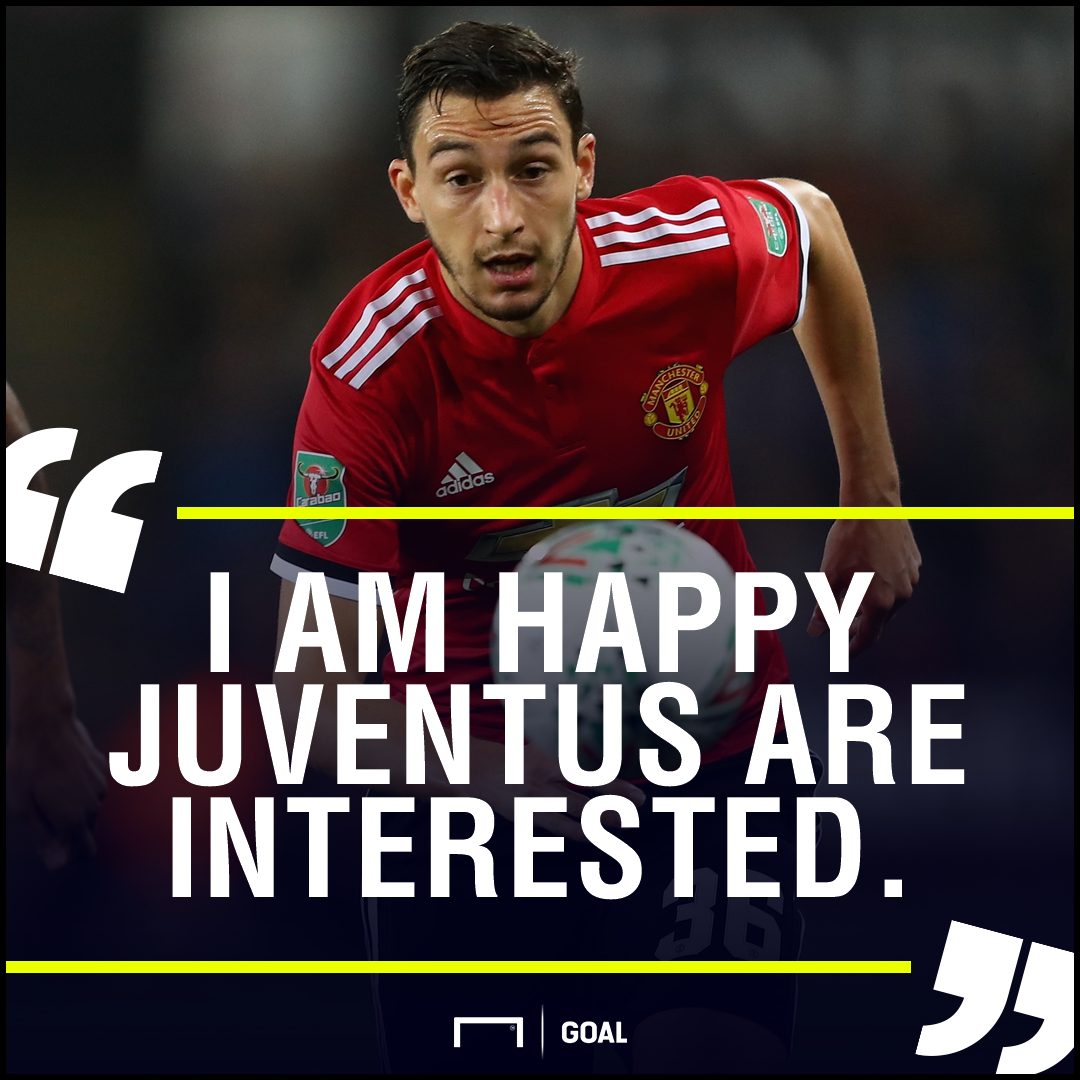 Matteo Darmian welcomes Juventus interest