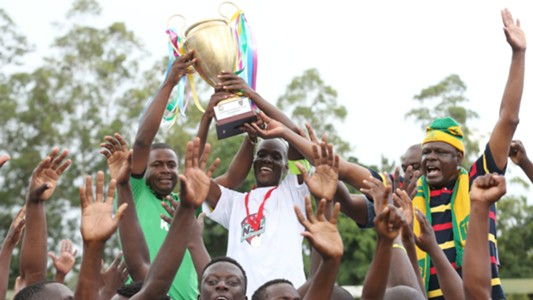 Vihiga United players celebrate