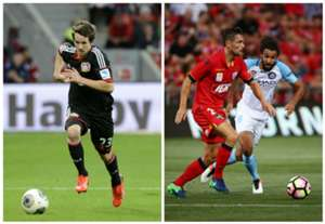 Robbie Kruse Bayer Leverkusen James Holland Adelaide United
