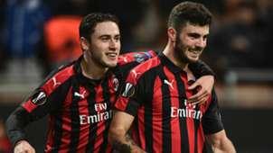 Patrick Cutrone Davide Calabria Milan Dudelange Europa League