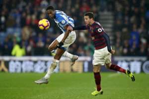 Terence Kongolo & Javier Manquillo - Huddersfield Town v Newcastle United