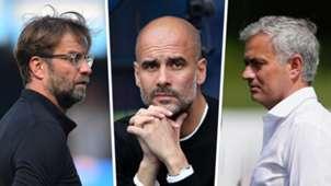 Jurgen Klopp Pep Guardiola Jose Mourinho