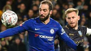 Gonzalo Higuain Chelsea  Tom Lees Sheffield Wednesday FA Cup