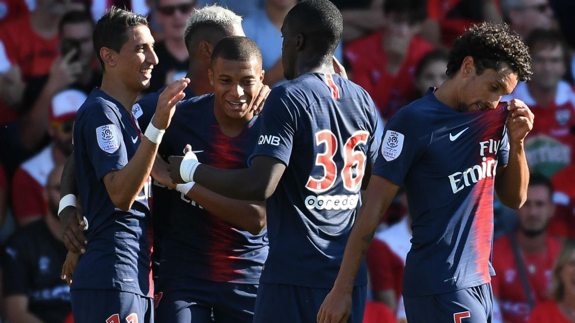 Kylian Mbappe Nimes PSG Ligue 1 01092018