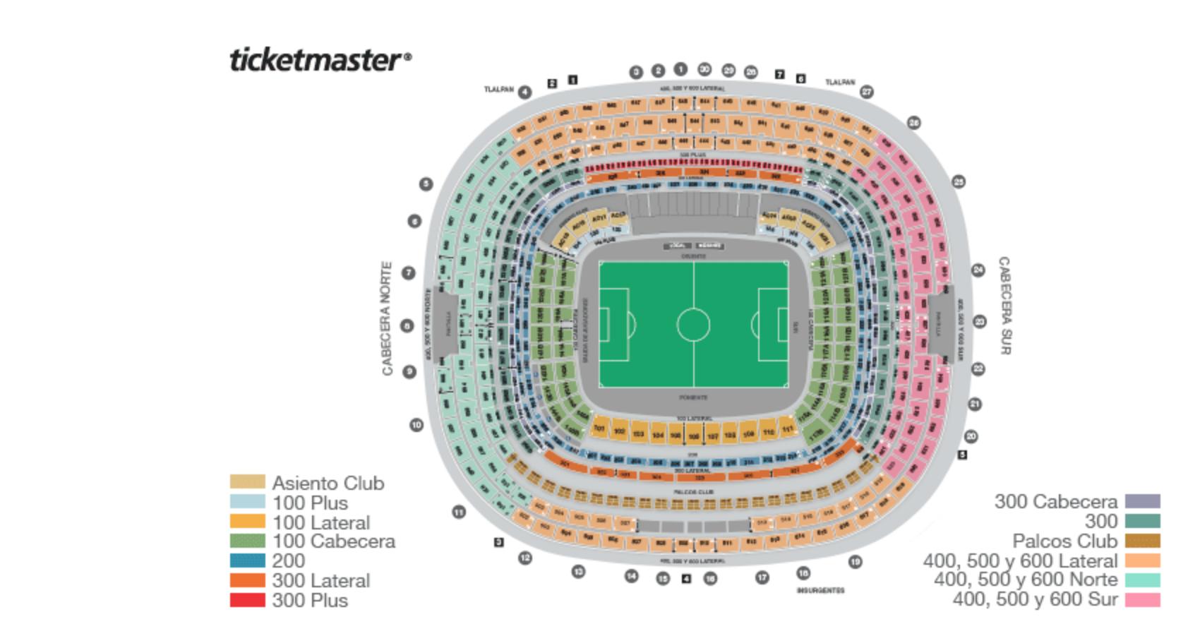 Estadio Azteca boletos