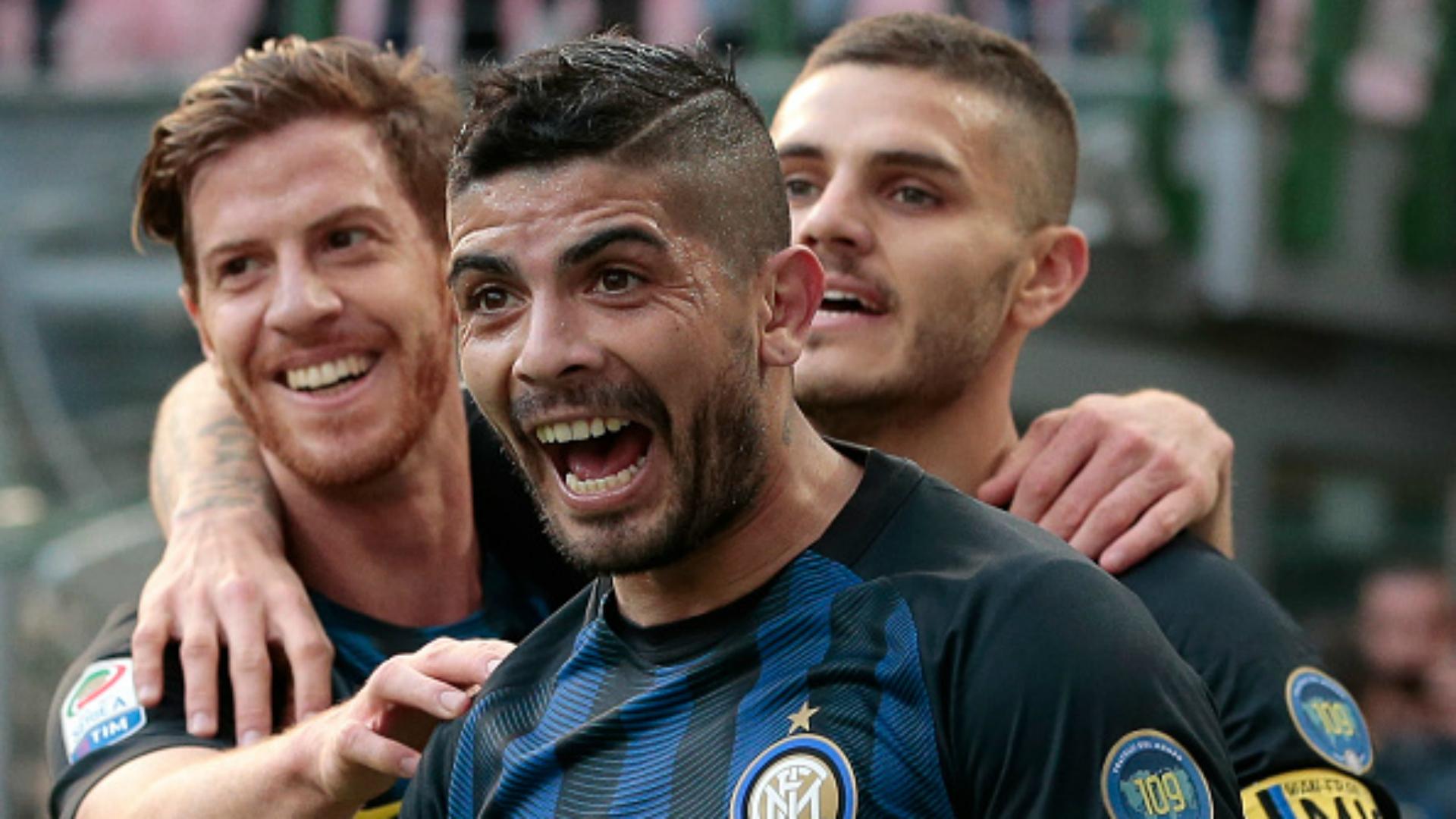 Ever Banega Mauro Icardi Inter Atalanta Serie A