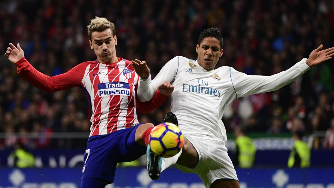 Antoine Griezmann Raphael Varane Atletico Madrid Real Madrid
