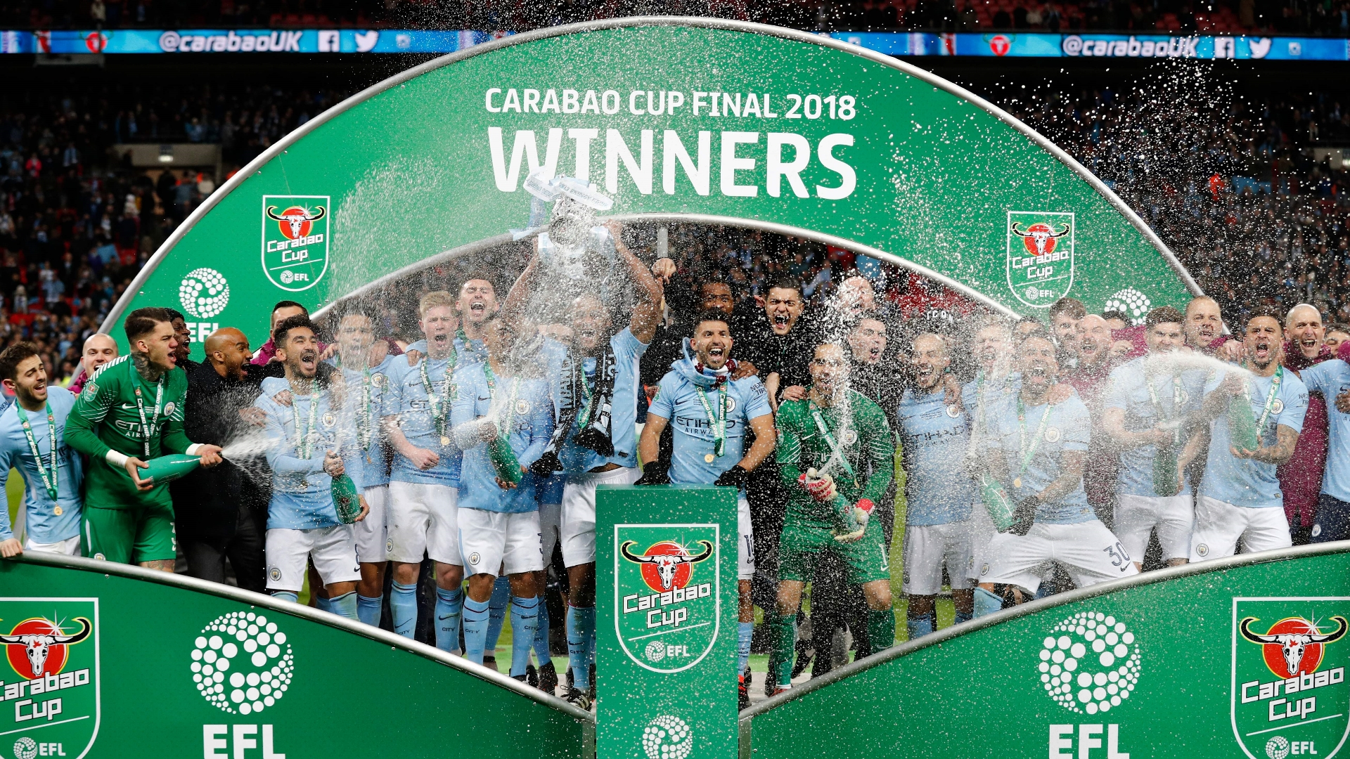 Manchester City lift Carabao Cup