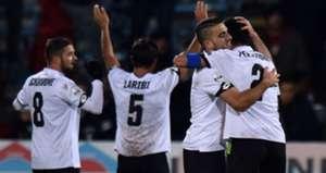Cesena players celebrating