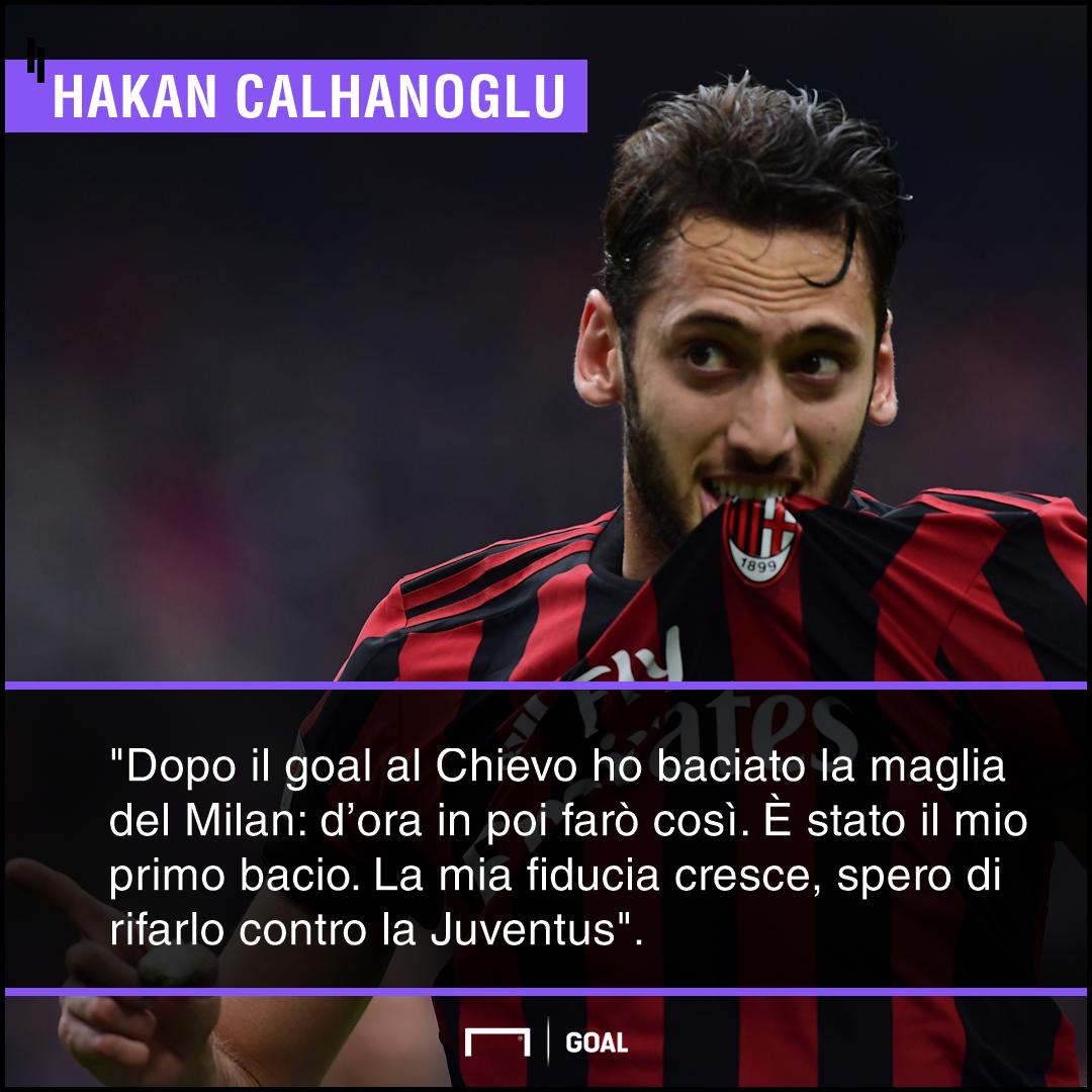 Derby e Juventus Milan, Calhanoglu parla da vero leader. Le parole