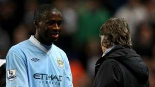 Yaya Tourè Roberto Mancini Manchester City