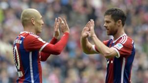 Arjen Robben Xabi Alonso Bayern Munich Bundesliga