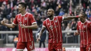 100318 Arturo Vidal Franck Ribéry Robert Lewandowski Bayern Münich Hamburgo