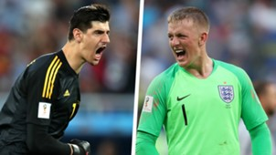 Thibaut Courtois Jordan Pickford Split