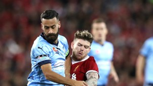 Alex Brosque Alberto Moreno Sydney FC v Liverpool Friendly 24052017