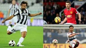 Andrea Pirlo Juventus Michael Carrick Manchester United Xabi Alonso Bayern Munich