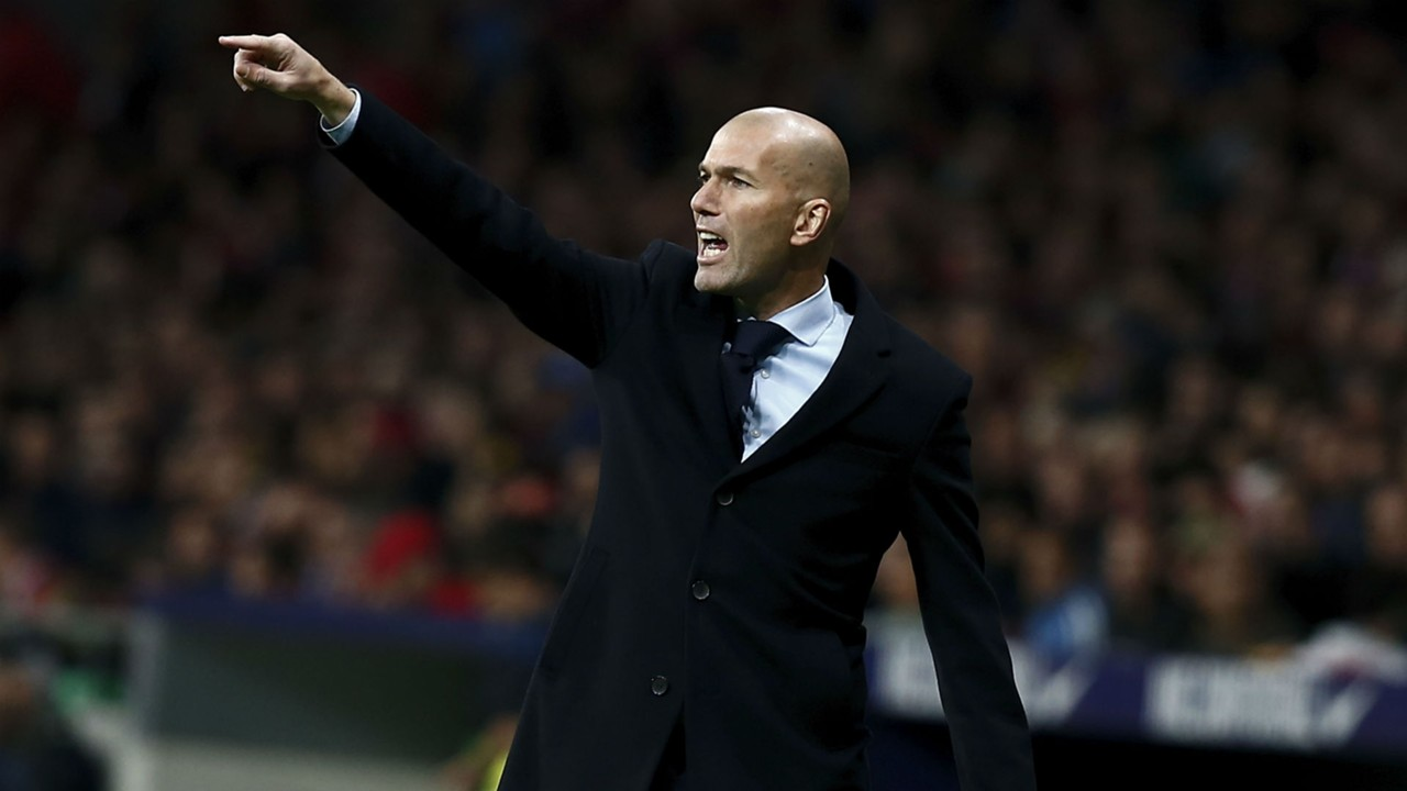 Zinedine Zidane Real Madrid Atletico Madrid