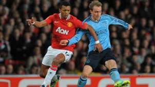 Nani, Christian Eriksen, Manchester United - Ajax, Europa League, 02232012