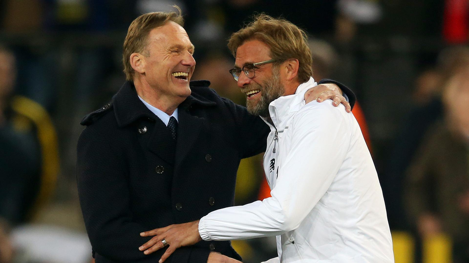 Klopp Watzke Dortmund Liverpool Europa League 04072016