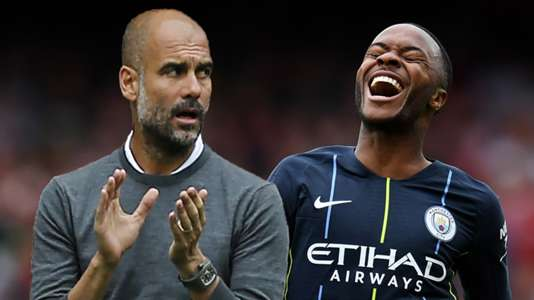 Pep Guardiola Raheem Sterling Manchester City 2018-19