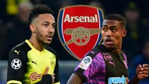 Aubameyang Malcom Arsenal GFX