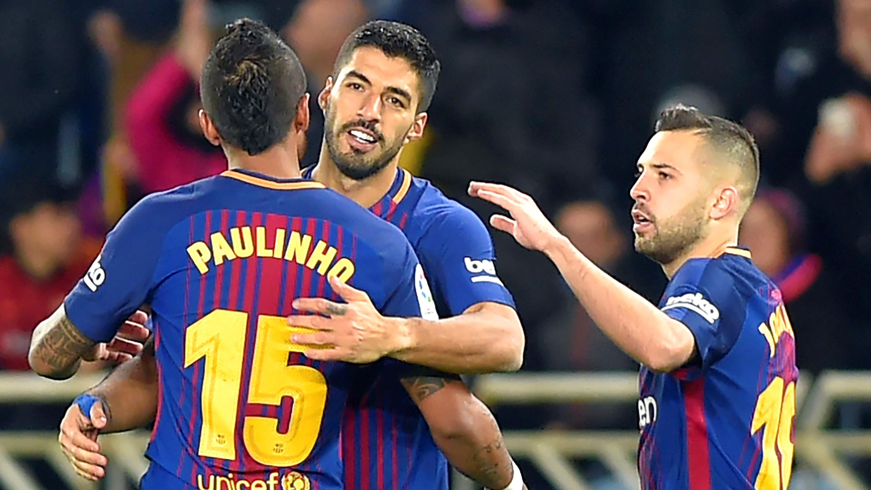 Paulinho Luis Suarez Jordi Alba Real Sociedad Barcelona LaLiga 14012018
