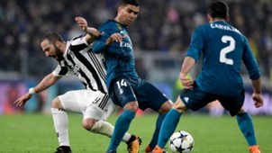 Higuain Casemiro Juventus Real Madrid Champions League