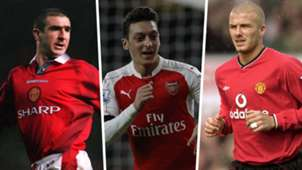 Eric Cantona Mesut Ozil David Beckham Assists Split