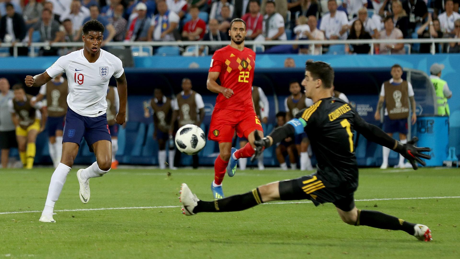 Marcus Rashford England Belgium World Cup 2018