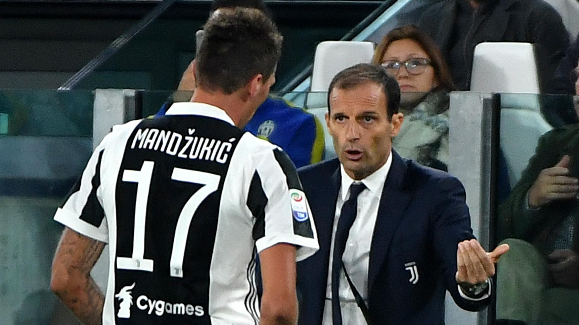 Massimiliano Allegri Mario Mandzukic Juventus