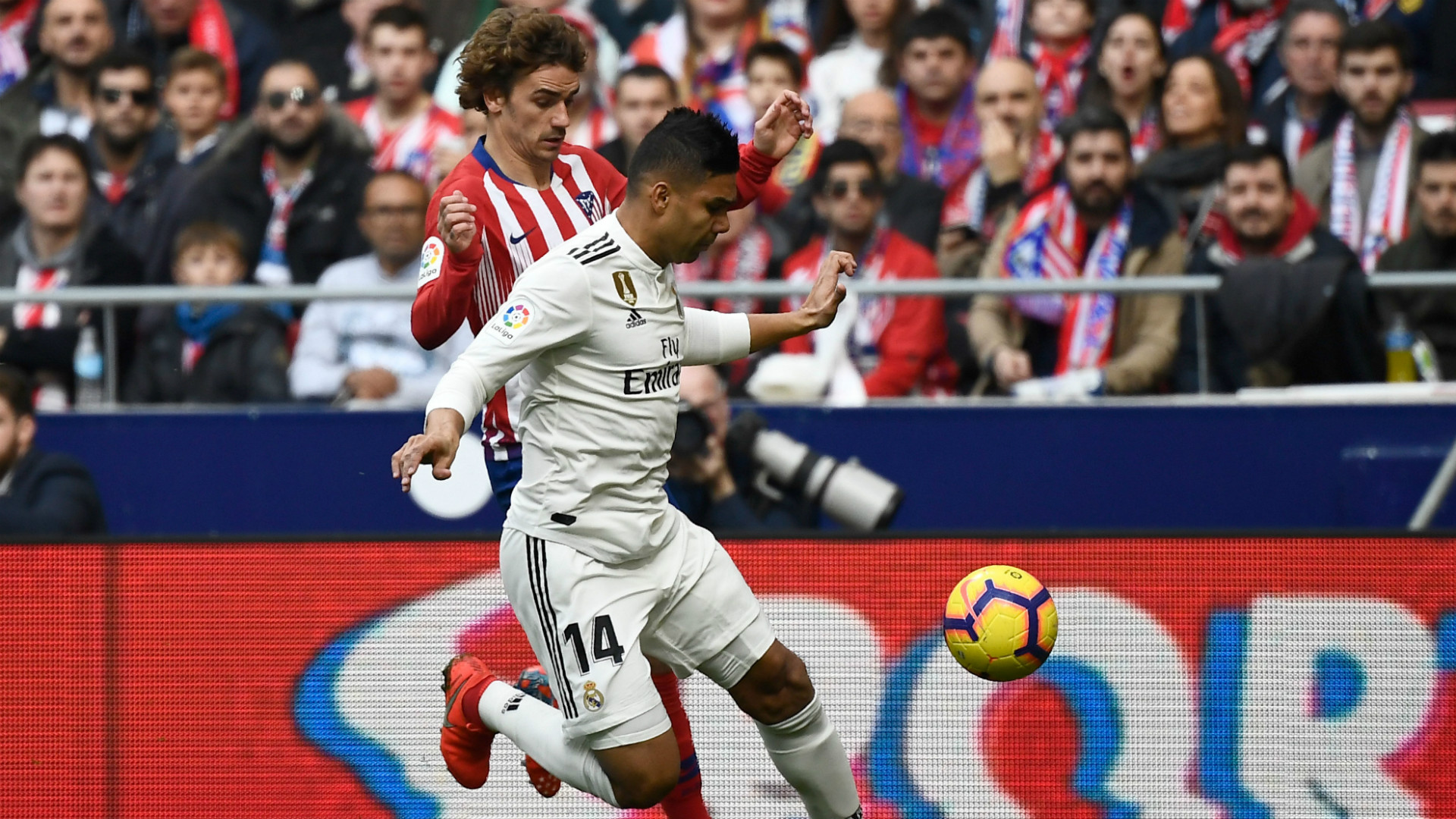 Casemiro Griezmann Atletico Madrid Real Madrid LaLiga