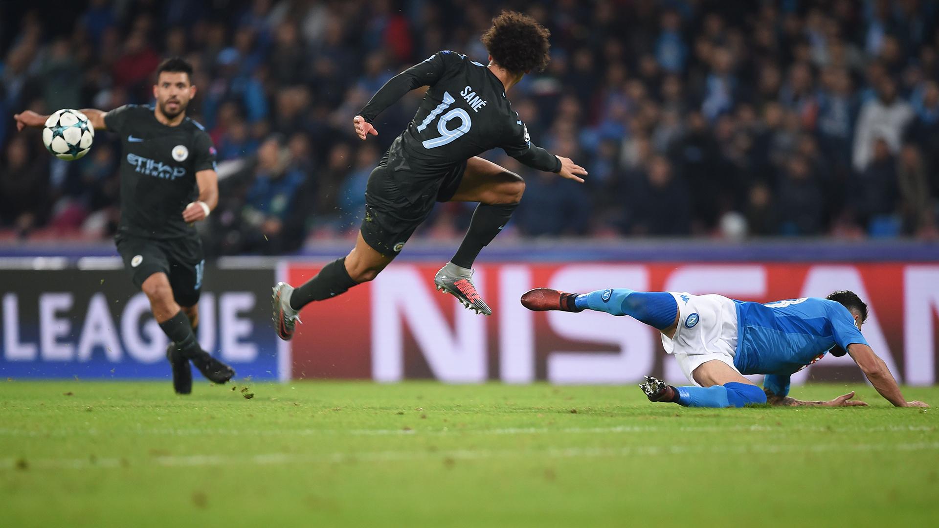 Leroy Sane Manchester City Napoli