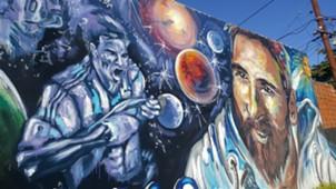 Lionel Messi Barrio Rosario Mural 052018